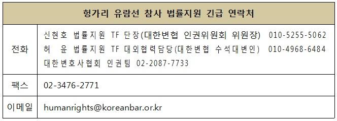 대한변협, 헝가리 유람선 참사 법률지원 나선다